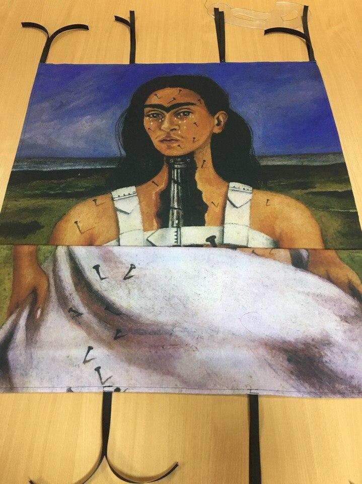 Сублимационная печать на ткани репродукции картины для оформления сцены