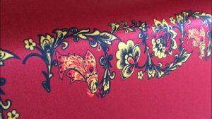 Печать на ткани сатен